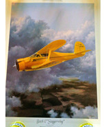 """Lithograph Plane """"Beech 17 Staggerwing""""  - $11.40"""