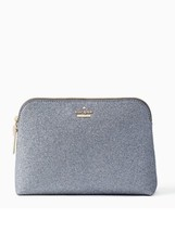 Kate Spade Nwt Burgess Court Small Briley Cosmetic Bag Ash Glitter Sparkle - $59.00