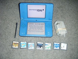 Nintendo DSi XL BLUE Handheld System Console with 7 Game lot ds BLUE - $66.36