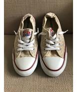 Converse All Star Shoreline Ivory Beige Eyelet Slip On Sneakers size 7 - $27.74