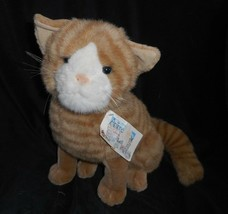 Vintage Commonwealth Animal Alley Orange Striped Kitty Cat Stuffed Plush Toy - $28.05