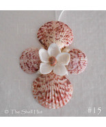 Seashell Christmas Ornament Cross Flower Crucifix Wall Hanging Decoratio... - $6.99