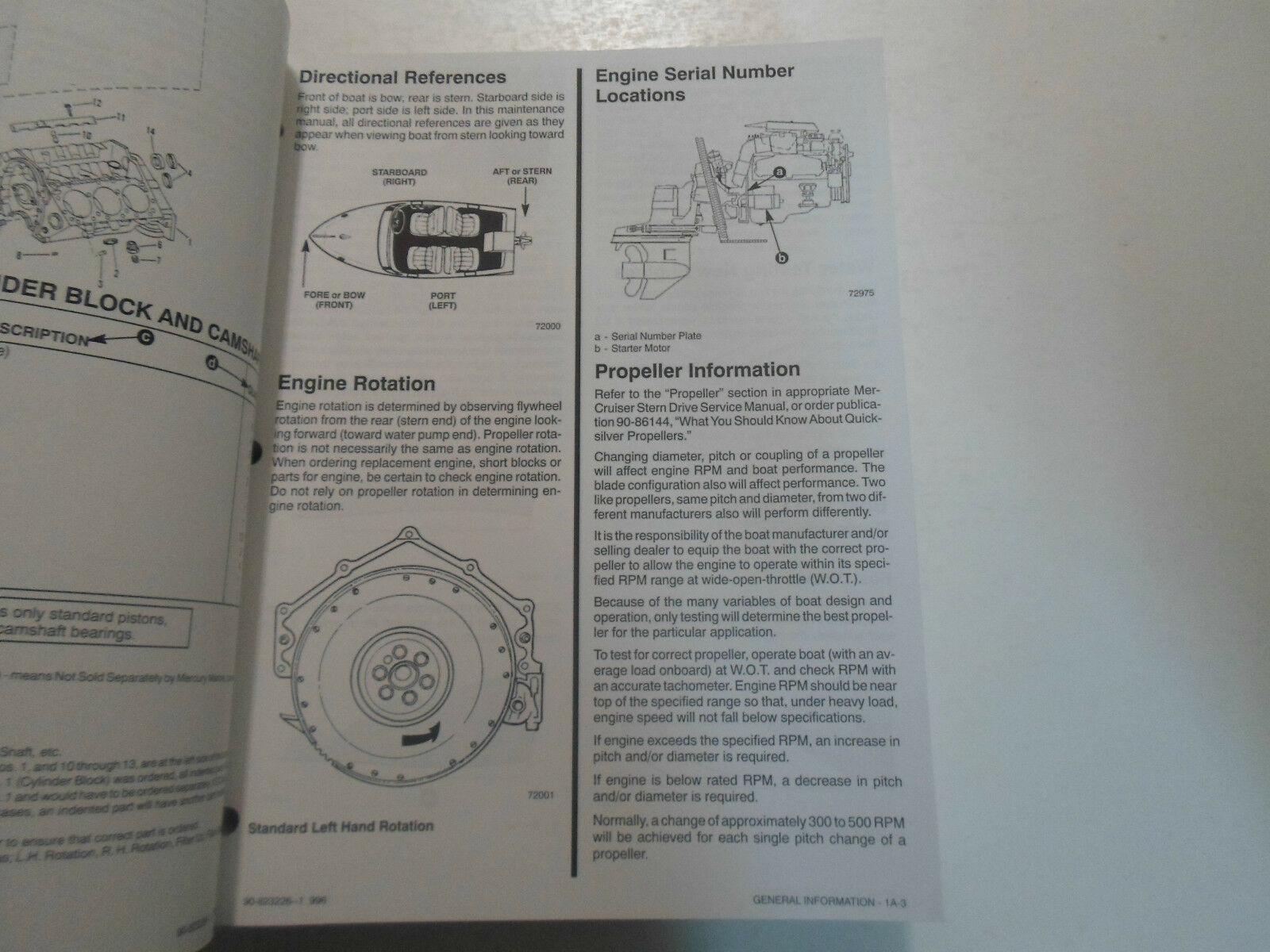 1996 Mercruiser #18 Marine Engines GM V6 262 Cid Balance Schaft Service Manuell image 7