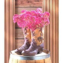 Pair Boot Planter Western Garden Decor Plant Stand Centerpiece Table Decor  - $16.78