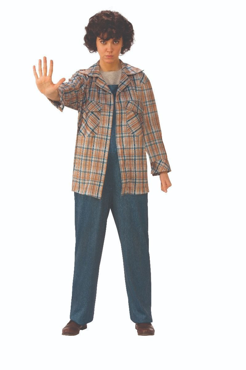 Rubies Stranger Things Two Eleven Plaid Adult Womens Halloween Costume 700042