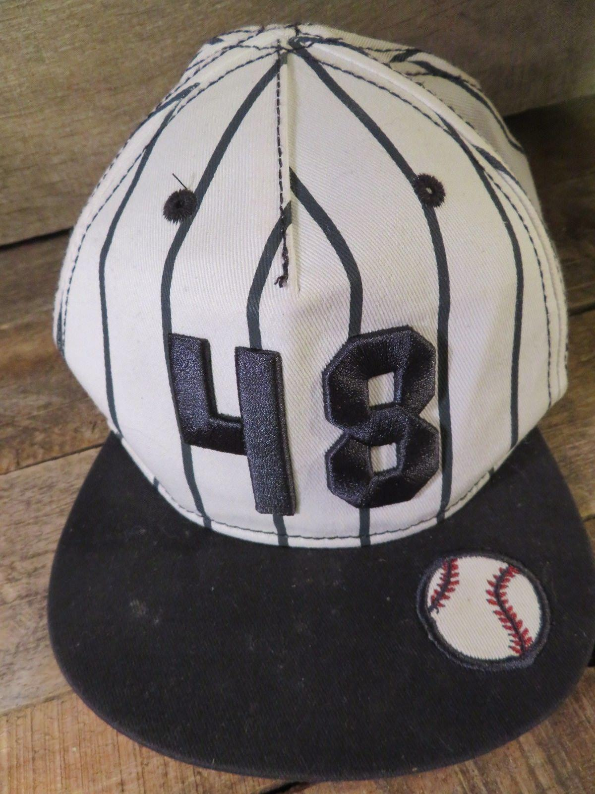 Baseball Pinstripe #48 Toddler Hat Cap 12 - 18 M