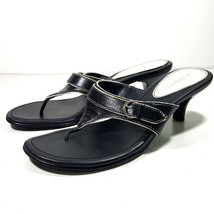 Liz Claiborne Women's Black White Thong Heels Size 6.5M - $14.84