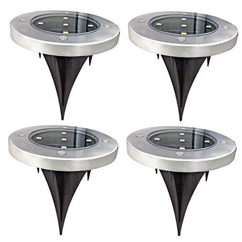 Outdoor Security Lights That Plug In: AHongem 5-LED Plug In Solar Powered Lights Outdoor