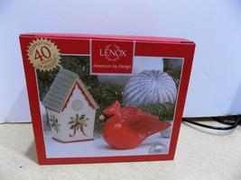 """Lenox  Winter Greetings Salt & Pepper Shakers NIB 4""""  Cardinal & House  ... - $23.76"""