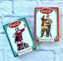 Coca-Cola Playing Cards Santa Claus Lot of 2 Decks Sealed New 1994 Chris... - $7.86