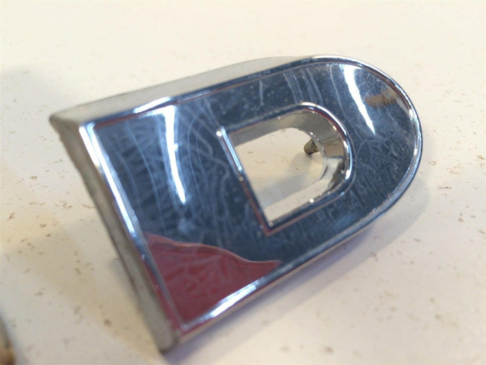 """Vintage Ford OEM Radiator Grille Panel Emblem - Letter """"D"""" C2TZ-8322-A"""