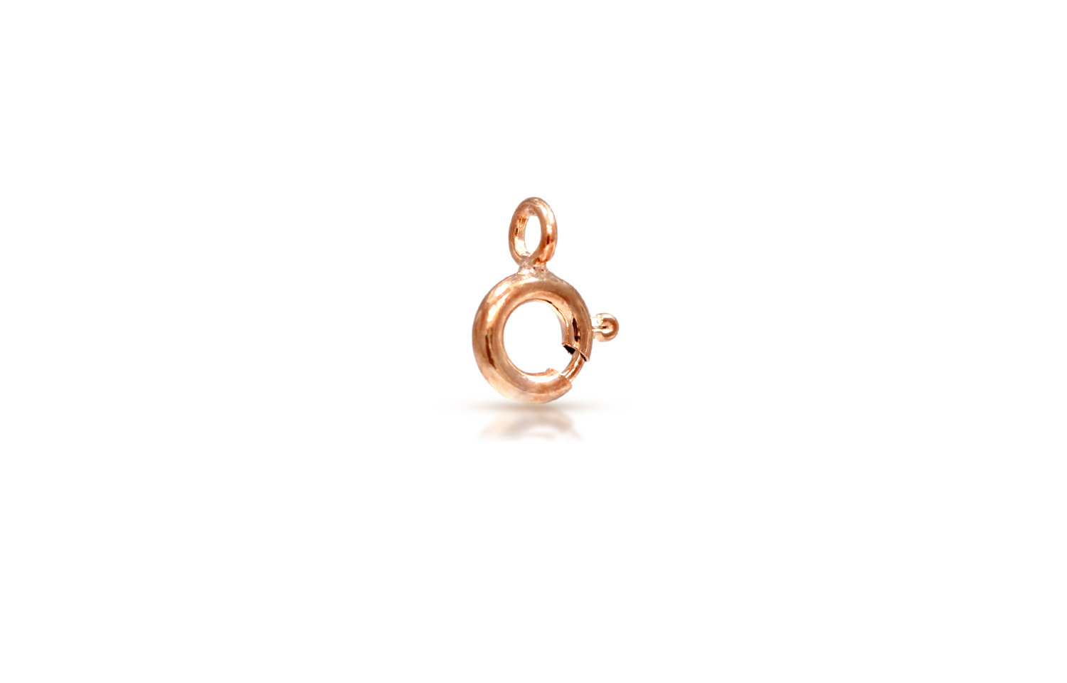 Primary image for Clasp, Spring Ring W/ Closed Ring, 14Kt Rose Gold Filled, 6mm, 100pcs (6111)/5