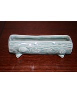 Vintage Red Wing Rumrill Pottery Blue Green Log Planter Succulents Pot U... - $24.99
