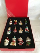 "Avon Set of 12 Holiday Glass Christmas Tree Ornaments New in Box 2.5"" Tall - $21.77"
