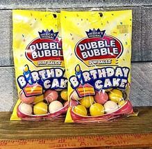 Dubble Bubble Gum Balls Birthday Cake (LOT OF 2 bags) - $12.85