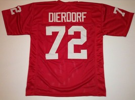 UNSIGNED CUSTOM Sewn Stitched Dan Dierdorf Red Jersey - 3XL - $44.99