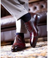 Best Handmade Men's Leather Oxfords Dress Shoes Custom Made Formal Shoes - $179.99+