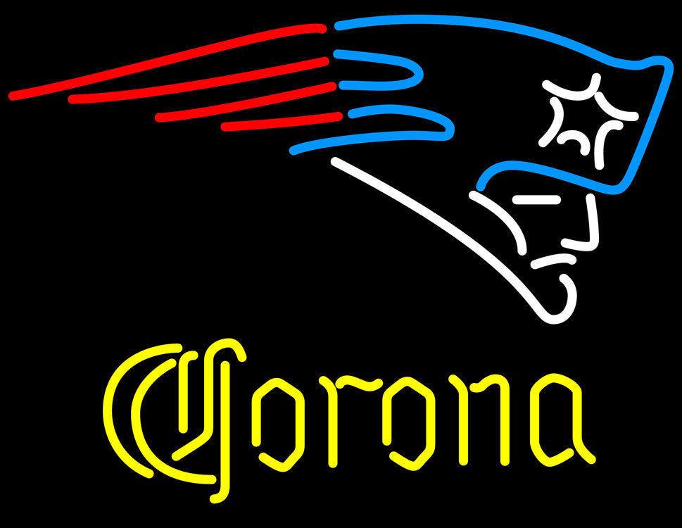 """New Corona Extra New England Patriots Go Patriots Neon Sign 24""""x20"""""""