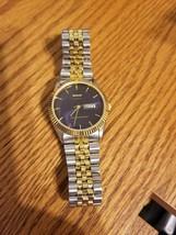 Vintage Baylor Men's Blue Face Watch Quartz - $55.00
