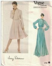2782 Vogue Couture Motif Femmes Coupe Large Blouson Robe Silverman 12 Oop - $19.79