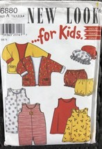 New Look for Kids Simplicity 6880 Size A 1/2 To 4Jacket Romper Dress Panties Hat - $6.80