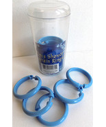 Shower Curtain Rings Pastic Snap-Lock Blue 12pk - $4.99