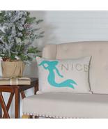 Christmas pillows Shark Mermaid Beach Theme 14 x 18 - $23.95