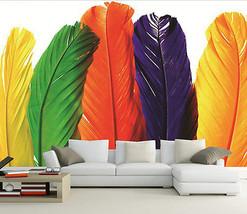 3D Die fünf Farben, federn Fototapeten Wandbild Fototapete BildTapete Familie DE - $52.21+