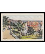 Hotel El Tovar Postcard  Arizona Louis Akin Signed Grand Canyon Fred Har... - $24.50