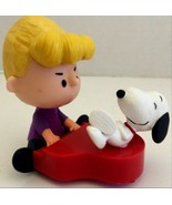 2015 McDonald's THE PEANUTS MOVIE - SCHROEDER AND SNOOPY Happy Meal Toy ... - $6.75