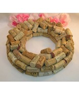Wine Cork Wreath Hand Crafted From Real Wine Bottle Corks Home Bar Decor - $39.99