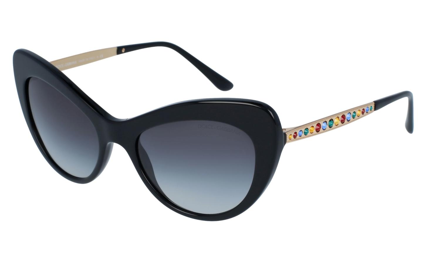 NEW DOLCE & GABBANA MAMBO Sunglasses DG4307B 501/8G Black Gold Grey Gradient