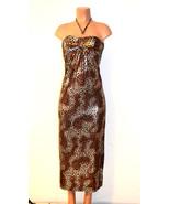 Cristina Love Sexy Metallic Animal Print Maxi  Dress - $25.49