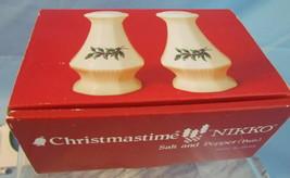 Nikko Christmastime Salt and Pepper Shakers in Original Box - $14.85
