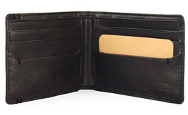 NEW LEVI'S MEN'S PREMIUM LEATHER CREDIT CARD ID WALLET BILLFOLD BLACK 31LV13C7 image 3