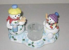 PartyLite Snowbell Kids Votive Candle Holder P7869 Like New - $19.59