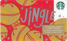 Starbucks 2018 Jingle Collectible Gift Card New No Value - $4.99