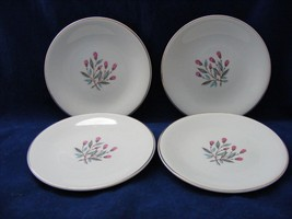 "4 Vintage Wedgwood Pink Hope 6"" Bread Plates 1960 Unicorn Mark - $9.95"