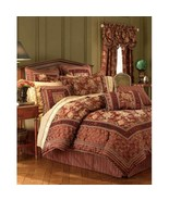 Croscill Harvest Manor Floral Red Gold 3-PC Queen Comforter and Shams - $148.00