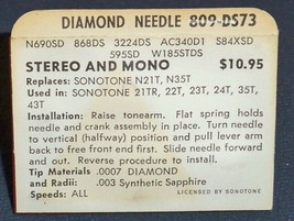 PHONOGRAPH NEEDLE 809-DS73 for 359-DS73 MAGNAVOX MICROMATIC EVG 132 163 N314 image 2