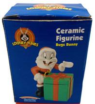 """Vintage 1997 Bugs Bunny Ceramic Santa Figure NIB 3.5"""" Christmas Looney T... - $9.89"""