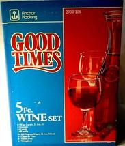 Vintage • Mid Century • Anchor Hocking 5 Piece Wine Set Set • Good Times - $19.79