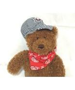Gund Lionel Train Teddy Bear Brown Railroad Stripe Cap and Red Bandana 1... - $17.81