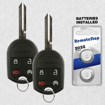 2 For 2011 2012 2013 2014 2015 2016 Ford F150 F250 Uncut Keyless Remote ... - $26.62