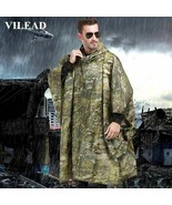 Waterproof Raincoat Fishing Poncho Men Rain Coatimpermeable Polyester Wo... - $23.74+