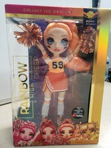 New Rainbow High Cheer Poppy Rowan Orange Fashion Doll with Pom Poms Che... - $23.74