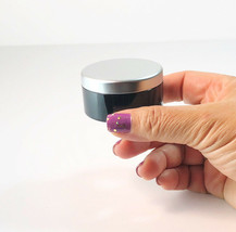 100 Cosmetic Jars Black Plastic Beauty Containers 30 Gram 30 ml Silver L... - $201.95