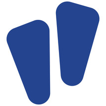 LiteMark Blue Removable Robot Footprint Decal Stickers - Pack of 12 - $19.95