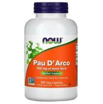 Pau D' Arco Inner Bark 500 mg Natural Antibiotic 250 Veg Capsules - $26.45