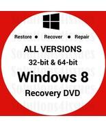Windows 8 64 Bit Recovery Install Reinstall Boot Restore DVD Disc Disk - $14.99